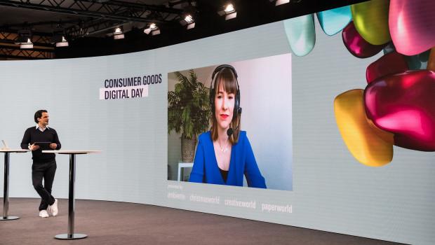 Auf der Hauptbühne des Consumer Goods Digital Day wie an den Bildschirmen stand der fachliche Austausch im Fokus.