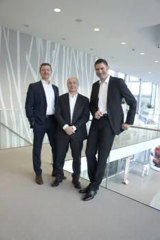 Die neue Al-Ko Gardentech Vertriebsstruktur (v. l.): Gernot Trippold, Sergio Tomaciello und Stefan Pompejus.