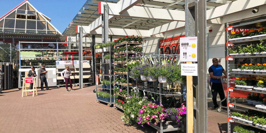 Corona, Auswirkungen auf die Bau- und Gartenmärkte