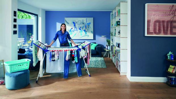 Der Wäscheständer Pegasus ist eines der Beststeller-Produkte, das auch im kommenden Jahr weiter im Fokus der Verbraucherwerbung stehen soll.