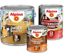 """In der Kategorie """"Heimtier/Garten"""" war Alpina mit seinem neuen Holzschutzsortiment erfolgreich."""