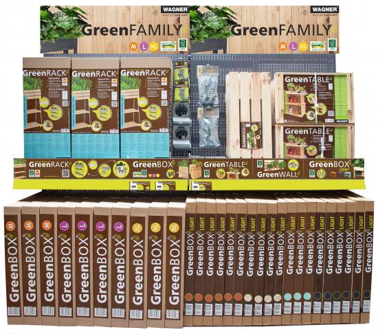 Das Highlight des Messestandssind die neuen Module für diePräsentation der Green Family.