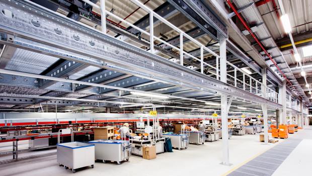 Ein Blick in das Fiege Mega-Center in Erfurt. Fiege führt die Multichannel-Fulfillment-Logistik von Ebay durch.