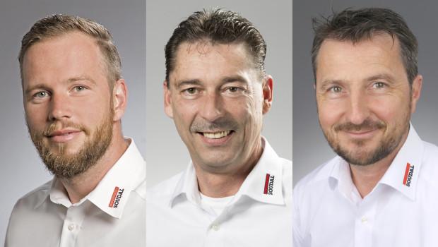 Matthias Kleitz, Reiner Weber und Sven-Oke Märtin (v. l.) verstärken den Fachhandels-Vertrieb des Kleb- und Dichtstoffherstellers Soudal.
