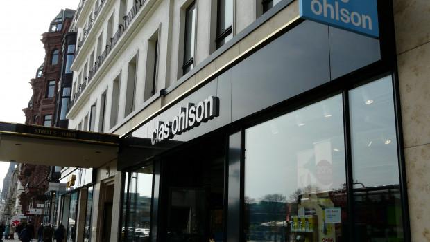 Clas Ohlson betreibt unter anderem am Jungfernstieg in der Hamburger City einen Markt.