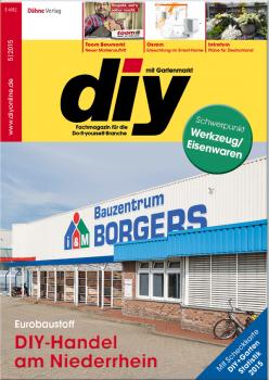 Das Cover der aktuellen diy-Ausgabe mit der Titelgeschichte über den Eurobaustoff-Standort in Rees.