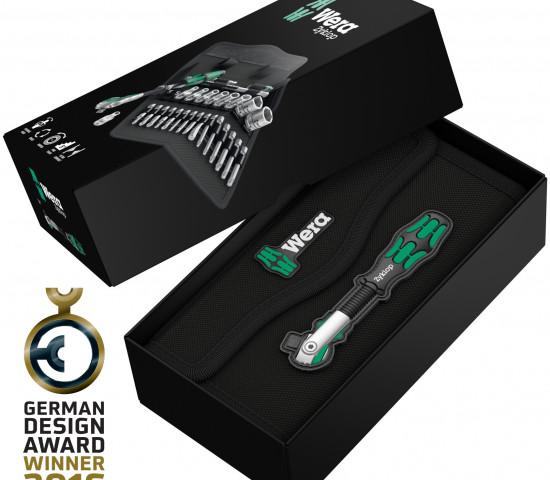 Wera wurde für die Verpackung der Knarre Zyklop Speed ausgezeichnet. Dabei kommt der Hersteller ohne das übliche Plastik aus.