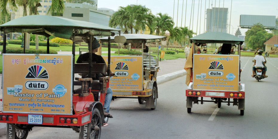 Handwerker in Kambodscha schätzen die deutsche Qualität.