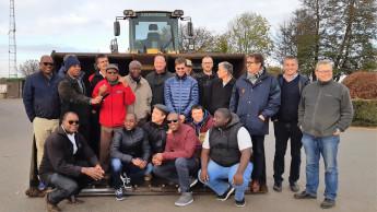 DHG begrüßen namibische Delegation in belgischen Werken