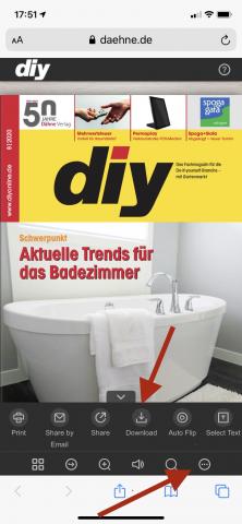 diy E-Magazin Bedienung