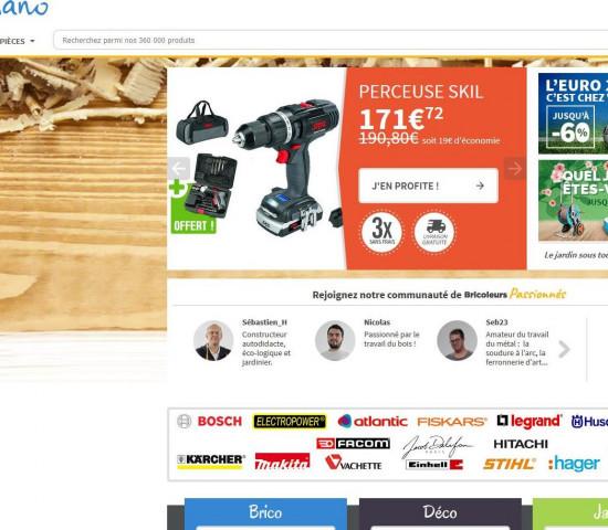 Screenshot der französischen Seite von ManoMano.