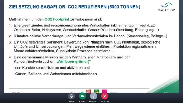 Mit diesen vier Maßnahmen will die Sagaflor AG ihren ökologischen Fußabdruck verkleinern.