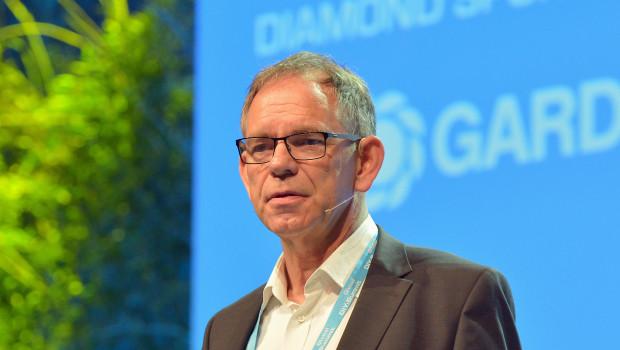 Ralf Rahmede beim Global DIY-Summit 2019 in Dublin. Am Erfolg des internationalen Kongresses der DIY-Branche ist er entscheidend beteiligt.