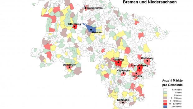 Bau- und Heimwerkermärkte in Bremen und Niedersachsen.