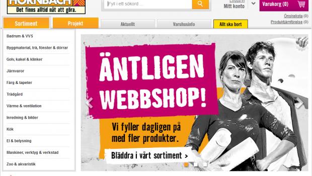 """""""Det finns alltid nåt att göra"""": Hornbach hat nun auch einen Onlineshop in Schweden - getreu dem Motto: Es gibt immer was zu tun."""