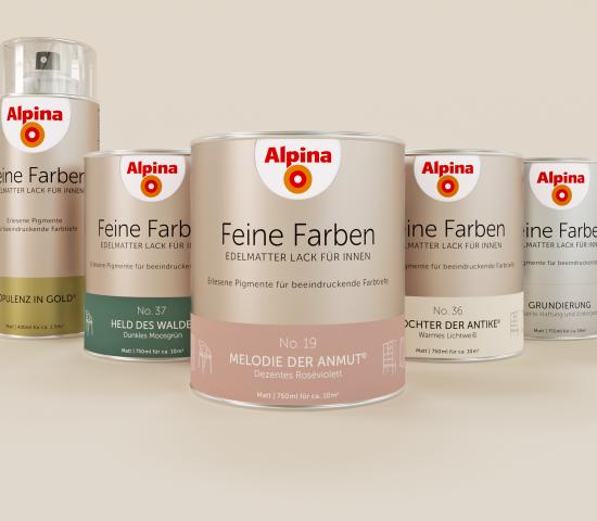 Das neue Sortiment beinhaltet Feine-Farben-Buntlacke in 34 Farbtönen, Spraylacke in 13 Standardfarbtönen und vier Metallic-Nuancen sowie eine Grundierung.