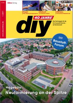 Die Hagebau ist Titelthema der aktuellen diy-Ausgabe, die am Anfang des Jubiläumsjahrs steht: Das Fachmagazin wird 40.