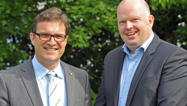 Freuen sich über gute Noten für den IVG: Vorstandsvorsitzender Christoph Büscher (r.) und Geschäftsführer Johannes Welsch.