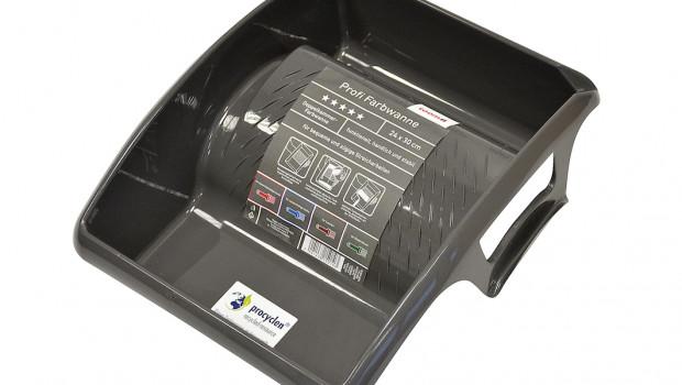 Die Farbwanne von Nespoli, die Toom Baumarkt jetzt anbietet, besteht aus 100 Prozent recyceltem Kunststoff.