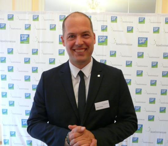 Auf der Pressekonferenz stellte sich Stefan Lohrberg als neuer Projektmanager der Spoga+Gafa vor.