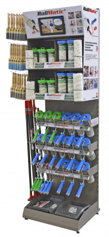 Nespoli, Display Farbwalzen-Wechselsystem RollMatic