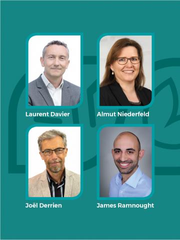 Die neuen Marketing-Verantwortlichen von SBM in Europa: Laurent Davier, Almut Niederfeld, James Ramnought und Joël Derrien.