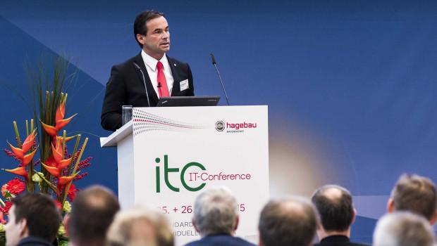 Hagebau Geschäftsführer Kai Kächelein eröffnete die IT-Conference.