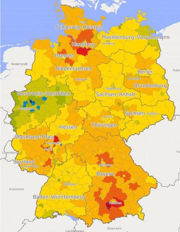 Regionale Kaufkraftverteilung