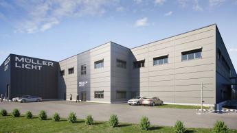 Neues Logistikzentrum von Müller-Licht vor dem Richtfest