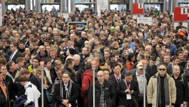 Einen neuen Besucherrekord gab es in diesem Jahr auf der Bau in München.