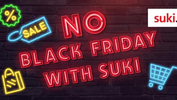Auf Linkedin bezieht Suki Stellung gegen den Black Friday.