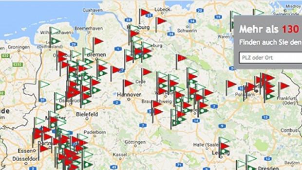 Die Bauking AG bietet im Netz ihren Profi- und Privatkunden jetzt einen verbesserten Standortfinder an.
