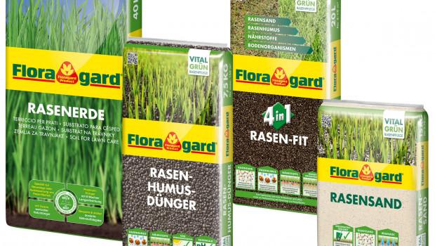 Floragard,  Vital Grün Rasenpflegeserie