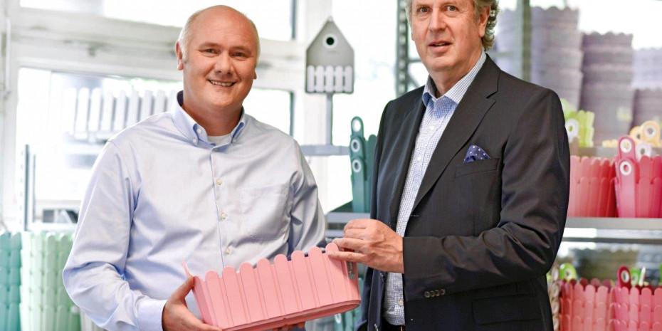 Emsa, Matthias Hemme (l.), Leiter der Business Unit Garten und Volker Lixfeld, Senior Vice President der Muttergesellschaft Groupe SE