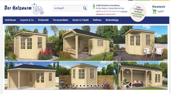 Webseite der Holzwurm GmbH