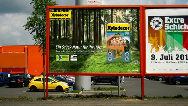 Bundesweite Radiokampagne und Großflächenplakate sowie mehrmonatige Online-Aktionen sind Teil der Xyladecor-Kampagne.