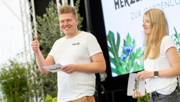 Anna-Lena Remus, Social-Media-Managerin bei Bruno Nebelung, und Christian Mauke, PR-Manager von Floragard, führten als Moderatoren durch den Tag.