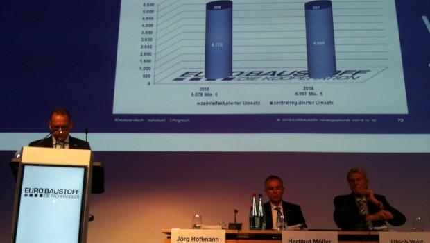 Die Geschäftsführung der Eurobaustoff-Zentrale kann den Gesellschaftern auf der heutigen Hauptversammlung gute Zahlen präsentieren.