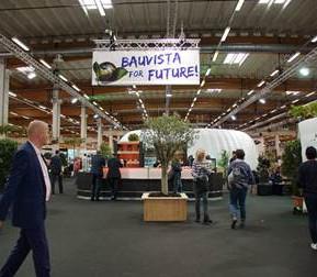 """""""Bauvista for Future"""": Das Nachhaltigkeitskonzept wird als roter Faden durch die Kommunikations- und Ordermesse HandelsForum gezogen. [Bild: Bauvista]"""