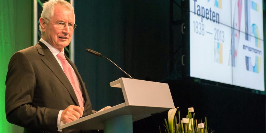 Peter Bercher, Inhaber der Erismann Tapetenfabrik.