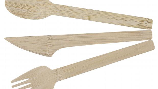 Es geht auch anders: Einwegbesteck aus Holz soll die Plastikprodukte bei Clas Ohlson ersetzen.