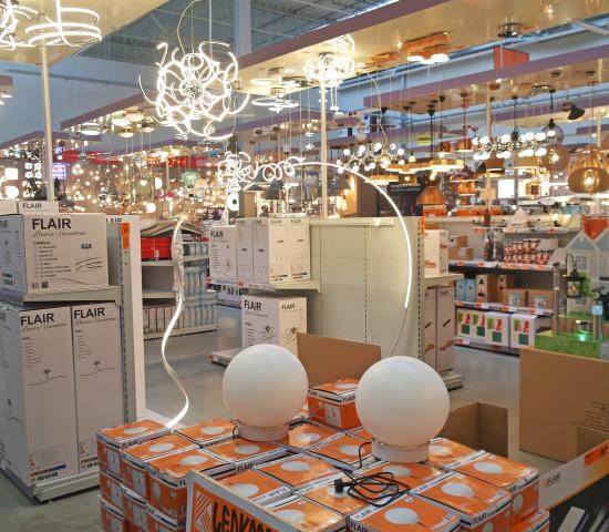 Hornbach, Zwolle, Leuchtenabteilung