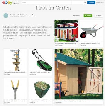 """Passende Produkte für den Bau eines eigenen Gartenhauses bietet die eBay-Kollektion """"Haus im Garten"""""""