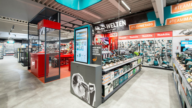 Das Store-Konzept sieht eine große Akkuwelt vor.