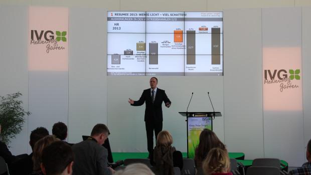Klaus Peter Teipel sprach gestern auf dem IVG-Medientag in Köln.