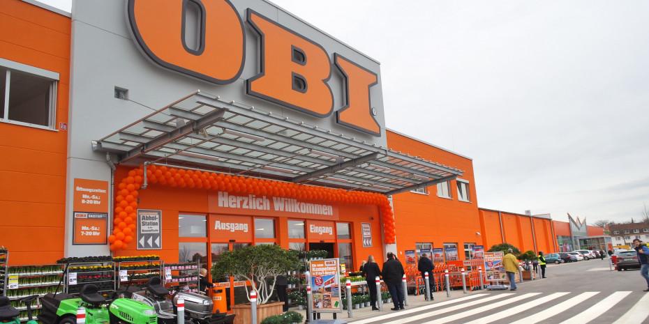Haupteingang, Obi-Markt, Düsseldorf-Heerdt