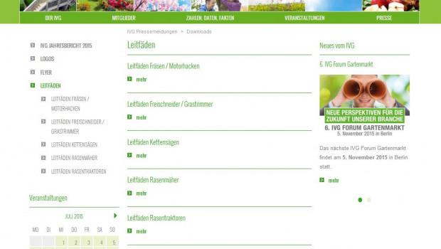 Die Leitfäden sind im Download-Bereich der IVG-Website (www.ivg.org) für jeden abrufbar.