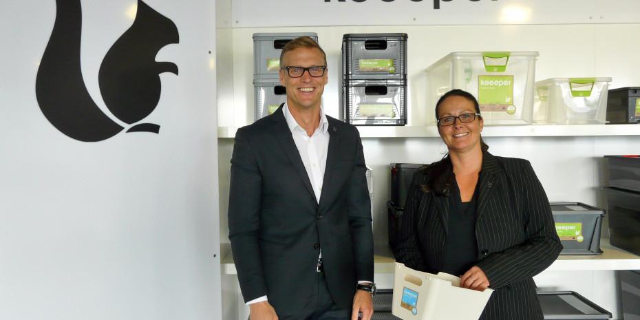 Mike Carlos Wolf, Geschäftsführer der keeeper GmbH, und Martina Goldstein, Marketingleitung