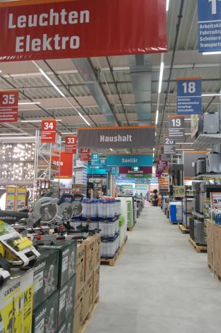 """Der """"normale"""" Obi-Baumarkt verfügt in Schaffhausen über eine Verkaufsfläche von rund 3.250 m²."""