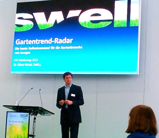 Dr. Oliver Nickel präsentierte Ergebnisse aus dem aktuellen Gartentrend-Radar.